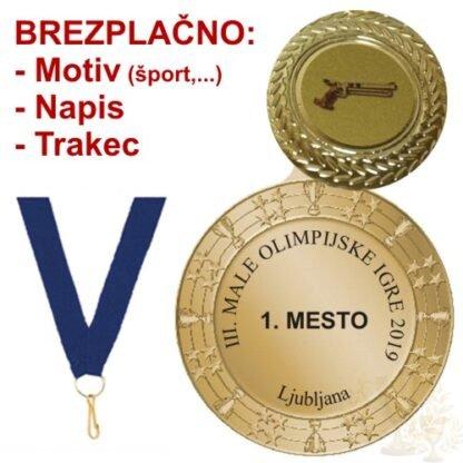 Medalja brazplačno motiv športa trakec in napis