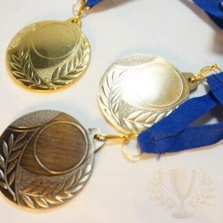 Komplet medalj rm9602_zlata, srebrna, bronasta, premer 50 mm